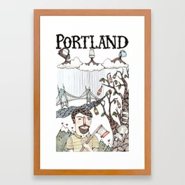 Portland, Oregon Framed Art Print