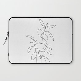 Plant one line drawing illustration - Ellie Laptop Sleeve