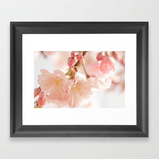 Cherry Bokeh Framed Art Print