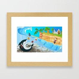 Animal Crossing - Fishy Tale Framed Art Print