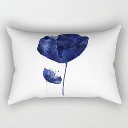 Blue & White Flower - 2 Rectangular Pillow