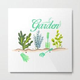 Lovely Little Herb Garden Metal Print