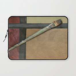 Artist Brush On Abstract Copper Canvas Artwork - Vintage - Modern Art - Corbin Henry Laptop Sleeve