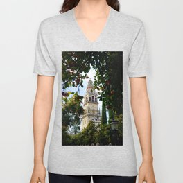 Cathedral of Cordoba Bell Tower Unisex V-Neck
