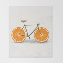 Zest (Orange Wheels) Throw Blanket