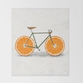 Zest (Orange Wheels) Throw Blanket