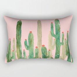 Cactus Four on Pink Rectangular Pillow