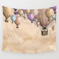 balloons Wall Tapestries featuring balloons by Juan Alonzo