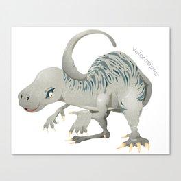 Raucous Velociraptor Canvas Print