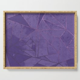 Amethyst Abstract Geometric Lines Serving Tray