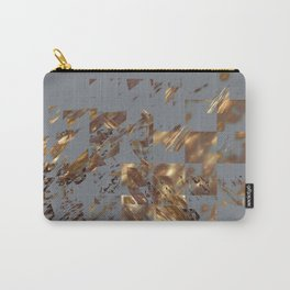 Bronze on Gray Square #abstract #society6 #decor #geometry Carry-All Pouch