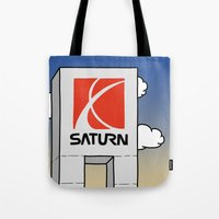 saturn Tote Bags featuring Saturn by Josh LaFayette