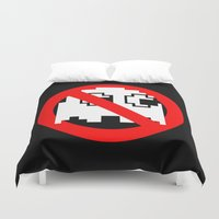 ghostbusters Duvet Covers featuring Pacman Ghostbusters by dutyfreak