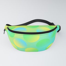 Gradient Polka Dots (Yellow and Green and Blue)! Fanny Pack