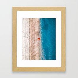 sea shore #society6 #decor #buyart Framed Art Print