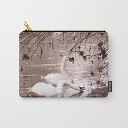 Swans friendship Carry-All Pouch