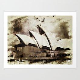 Sydney Opera House  Collection V Art Print