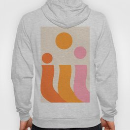 80s inspired colors print - art, interior, drawing, decor, design, bauhaus, abstract, decoration, ho Hoody