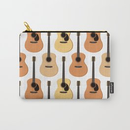 Acoustic Guitars Pattern Carry-All Pouch