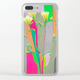 Colourful Freesias Clear iPhone Case