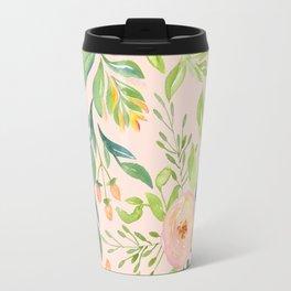 Pink Meadow Travel Mug