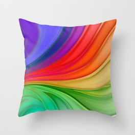Abstract Rainbow Background Throw Pillow