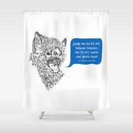 A Beast's Beseechment Shower Curtain
