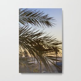 Summer Feels with Palms Metal Print