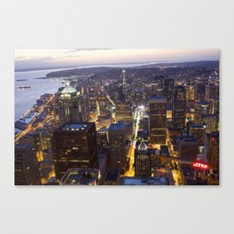 Seattle Skyline (Inner City) Canvas Print