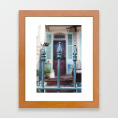 French Quarter Gate Framed Art Print