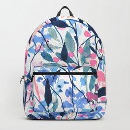 Wandering Wildflowers Blue Backpack