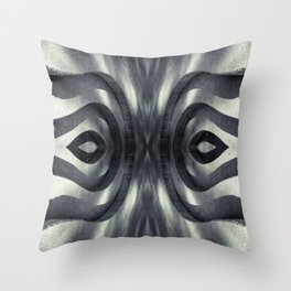 Stone Face Illusion of Fall Throw Pillow