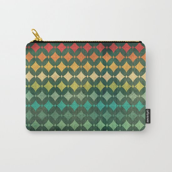 Vintage Rainbow Pattern Carry-All Pouch
