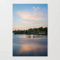 cabin Canvas Prints featuring Cabin by Jessica Pei
