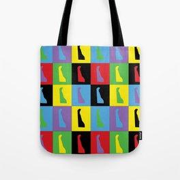 Delaware Pop Art Tote Bag