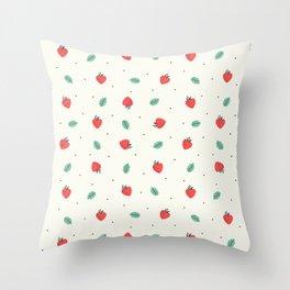 Fresh Strawberries Throw Pillow