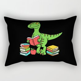 Velocireader Dinosaurs School School Books Motif Rectangular Pillow