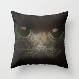 Cats, darklight Throw Pillow