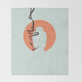 Buddha : Give Peace a Chance! Throw Blanket