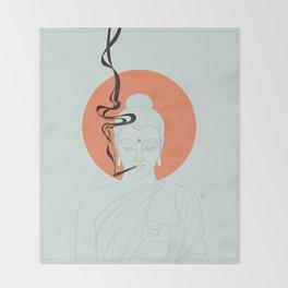 Buddha : Give Peace a Chance! Throw Blanket