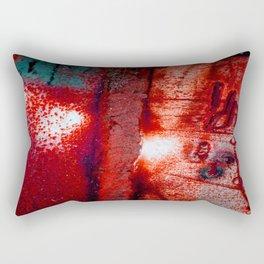 Rust in Red Rectangular Pillow