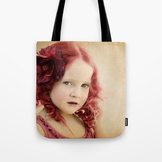 Mila as a Vintage Rose Tote Bag