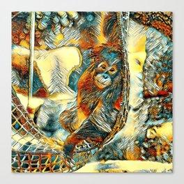 AnimalArt_OrangUtan_20170605_by_JAMColorsSpecial Canvas Print