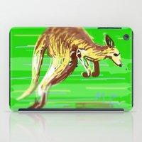 kangaroo iPad Cases featuring Kangaroo by wingnang