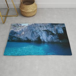 NATURE'S WONDER #5 - BLUE GROTTO (Turkey) #2 #art #society6 Rug