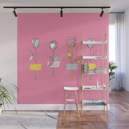Rosewall (on pink) Wall Mural
