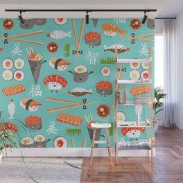 Happy Sushi Wall Mural