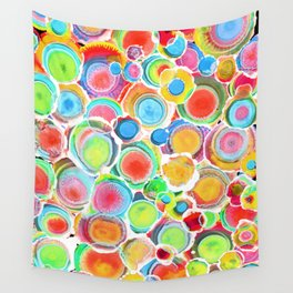 Sunshine on Your Spotty Mind (Alcohol Inks Series 07) Wall Tapestry