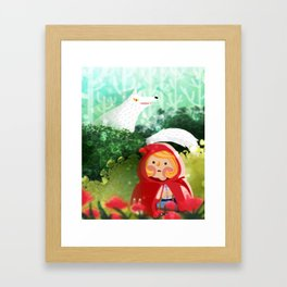 Hello Little Red Riding Hood Framed Art Print