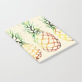 Burlap Pineapples Notebook